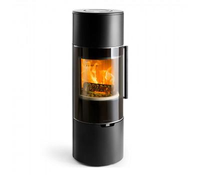 Печь K900, высокая, черная, хромированная окантовка стекла (Keddy)